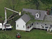 Sky 5 surveys storm damage in Zebulon