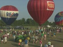 Balloons ascend over Fuquay-Varina park