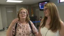 IMAGE: Long lost sisters meet in airport for first time