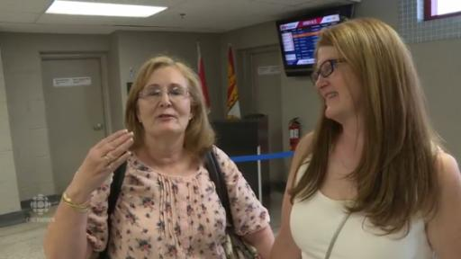 There may be no better place to witness a happy reunion than an airport, and that's exactly where two sisters found each other for the very first time. (Deseret Photo)