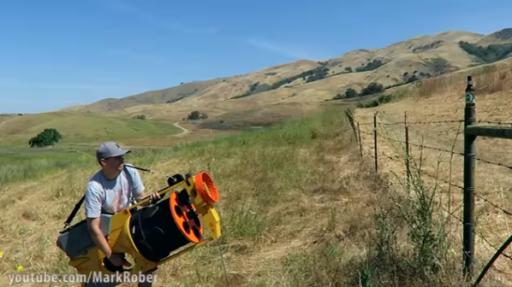 Mark Rober — who used to work as an engineer for NASA — has invented the world's largest functioning NERF gun and he's showing it off on his YouTube channel. (Deseret Photo)