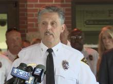 Fayetteville Police Chief Harold Medlock announces his retirement in an Aug. 23, 2016, news conference.