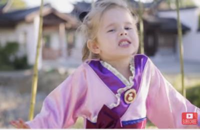 The former Utah 3-year-old who went viral with her own renditions of several Disney songs is back at it with a new video. (Deseret Photo)