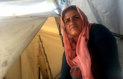 Rouya Addin, 30, lives with her four children, all under the age of 8, in a one-room tent in the Diavota refugee camp in northern Greece. She's among thousands of refugees who were stranded apart from their families when European countries closed their borders in early 2016. Addin hopes to reunite with her husband, Utep, in Germany. (Deseret Photo)