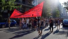 Greek citizens and newly arrived migrants march in a rally for refugee rights in Athens, Greece, in July 2016. (Deseret Photo)