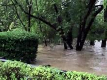Marla Dorrel Park Flooding during Hurricane Matthew