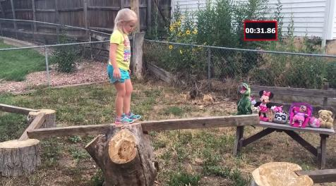 """A dad built his 5-year-old daughter an extensive """"American Ninja Warrior"""" course, resulting in cuteness overload. (Deseret Photo)"""