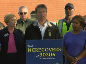 Gov. McCrory delivers Hurricane Matthew recovery update