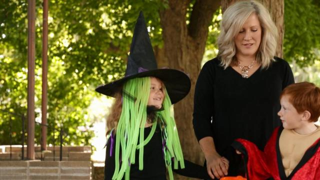 Pedestrians exercise caution while trick-or-treating. (Deseret Photo)