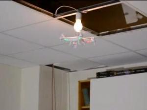 How many drones does it take to replace a lightbulb? Apparently two. (Deseret Photo)