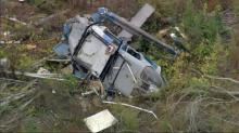 RAW: Helicopter crash aftermath in Moore County