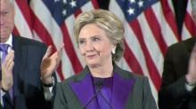 Hillary Clinton speaks following loss in presidential election
