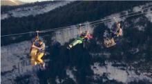 IMAGE: Have You Seen This? Flying Frenchies surf across a zip line