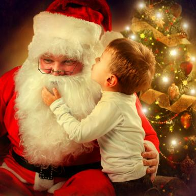 When Santa Claus got a call from the hospital with a request to visit a terminally ill boy, he didn't realize he'd be the one to hold the child when he passed. (Deseret Photo)