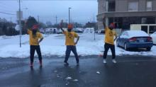 IMAGE: Have You Seen This? Snow shoveling dance break