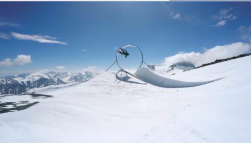We're not talking a flip here, people. We're talking grinding a rail through a loop-de-loop while skiing. (Deseret Photo)