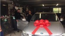 IMAGE: Brothers save for 5 years, surprise mom with BMW
