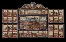 The 16th-century Gotha panel altar piece was on display at the Minneapolis Institute of Art. It features some of Luther's own handwritten notes for his translation of the Bible. Some 160 panels functioned as an illustrated Bible for both the literate scholar and the common man. (Deseret Photo)
