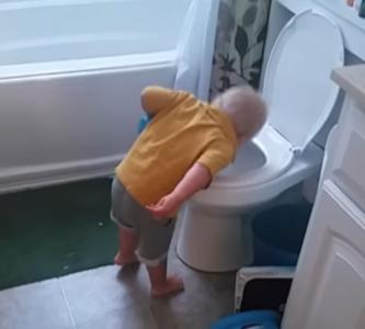 Because the husband is always able to laugh about these kinds of things, D.J. Anderson took to YouTube to share a video of his toddler son doing a dry reenactment of his mommy's morning misery. (Deseret Photo)