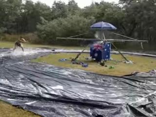 A group of Australians celebrated Australia Day by building a giant, spinning waterslide. The video will transport you right back to the good ol' days of summer. (Deseret Photo)