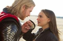 """Natalie Portman and Chris Hemsworth star in Marvel's """"Thor: The Dark World."""" In the film series, Portman's character plays a physicist rather than a nurse, as was portrayed in the original comic book series. (Deseret Photo)"""