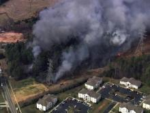 Sky 5 covers Durham fire