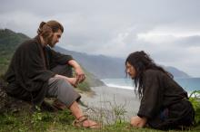 """Andrew Garfield, left, plays Father Rodrigues and Yosuke Kubozuka plays Kichijiro in the film """"Silence"""" by Paramount Pictures, SharpSword Films and AI Films. (Deseret Photo)"""