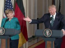Trump, Germany leader hold news conference