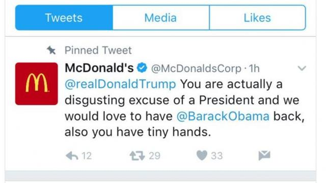 As NPR reported, McDonald's woke up to find that its accounted tweeted negatively toward Trump. (Deseret Photo)