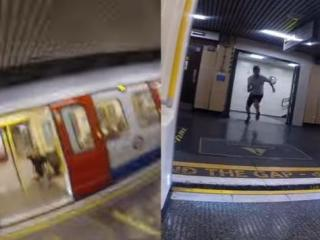 """Are you faster than the train? In this viral YouTube video, one Londoner set out to answer that question and ended up kicking off a worldwide """"Race the Tube"""" trend. (Deseret Photo)"""
