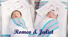 IMAGE: A Shakespearean tale: Babies Romeo and Juliet born 18 hours apart at same hospital