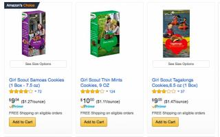 Tired of waiting an entire year for new Girl Scout cookies? Don't worry anymore. You can now buy a year's supply on Amazon. (Deseret Photo)