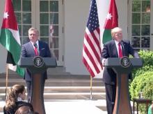 Trump, Jordan king hold news conference