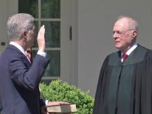 After partisan fight, Neil Gorsuch sworn in as Supreme Court justice