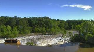 Tar River swells in Rocky Mount