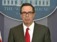 Mnuchin discusses Trump's tax plan at White House briefing