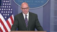 National security adviser holds press briefing at White House