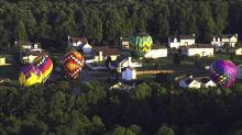 Sky 5 flies over mass ascension