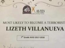 Texas mom furious after daughter's teacher gives her 'most likely to become a terrorist award'