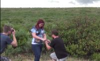 IMAGE: Relationship weathers storm as boyfriend proposes in front of tornado