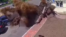 IMAGE: Have You Seen This? Massive underground pipe explosion