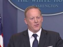 Spicer holds daily briefing at White House