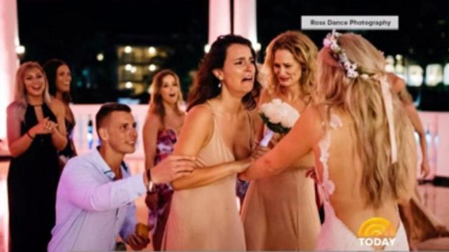 A Canadian woman helped plan and execute the perfect surprise marriage proposal for her best friend — on her very own wedding day. (Deseret Photo)