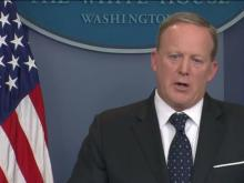 Spicer takes questions at White House briefing