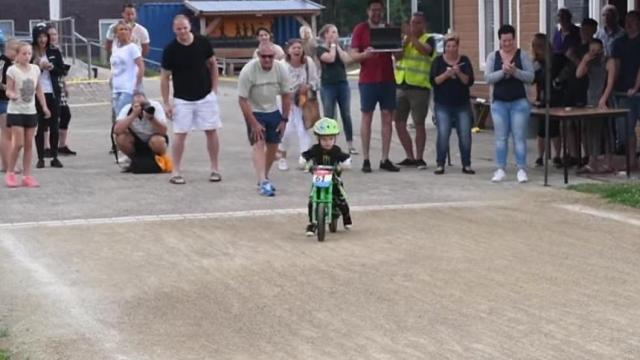Senn Swieters is a 2-year-old walking bike champion who may just be wiser than any of us. As he shows in this video, he understands that what really matters isn't winning gold, it's having fun. (Deseret Photo)