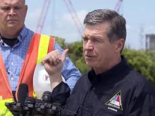 Cooper checks damage to OBX utility lines