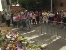 Memorial builds in Charlottesville after violent weekend