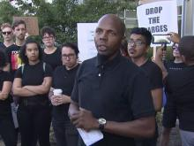 Protesters decry arrests in Durham statue vandalism