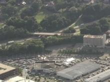 Sky 5: Durham streets remain crowded, peaceful