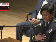 Hawkins sworn in as Fayetteville police chief